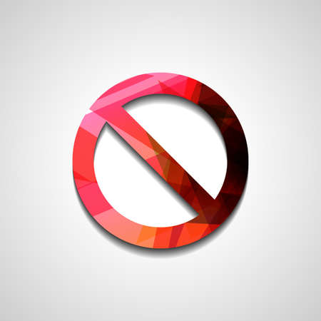 no sign: No Sign , abstract style illustration, isolated symbol Illustration
