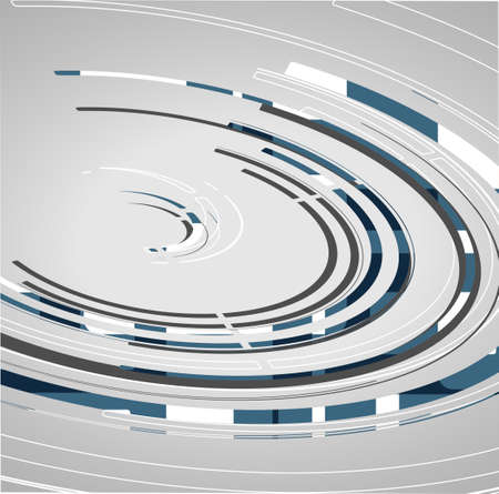 Abstract technology circles background, dynamic illustration. Vector