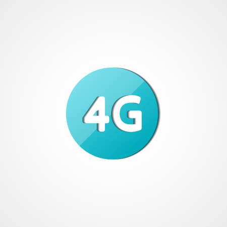 wireless communication: Four G latest wireless communication web icon on white background