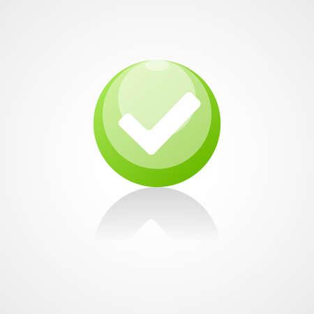 accepter: Accepter web ic�ne sur fond blanc