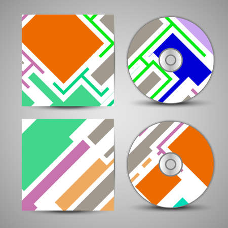 Vector cd cover  set for your design, vintage abstract Illustration. Vector