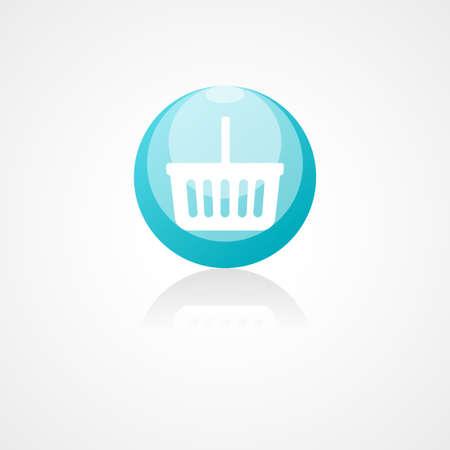 shopping basket: Shopping basket web icon on white background