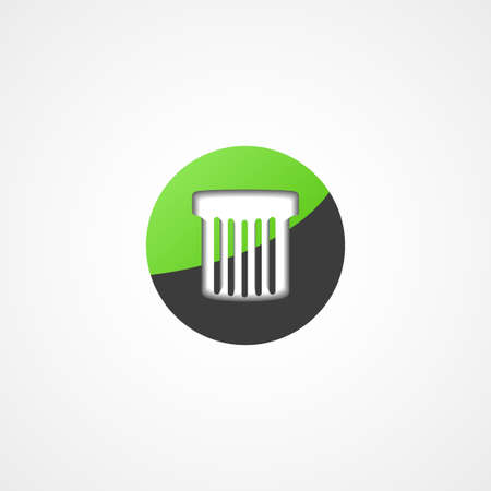 Trash can web icon on white background Vector