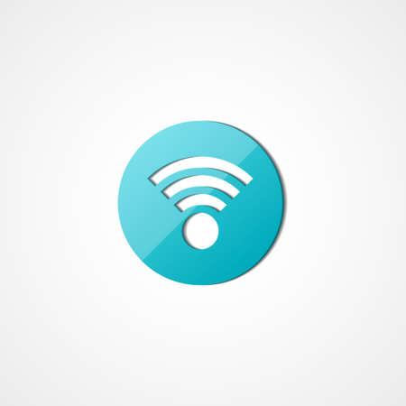 wireless network: Icono de la web de la red inal�mbrica en el fondo blanco Vectores