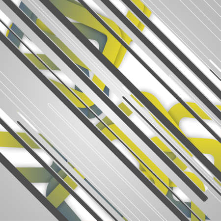 Abstract futuristic geometric shapes, dynamic illustration. Vector