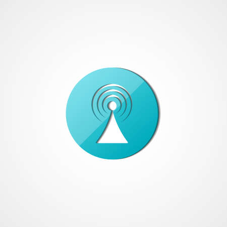 Signal  web icon on white background Vector
