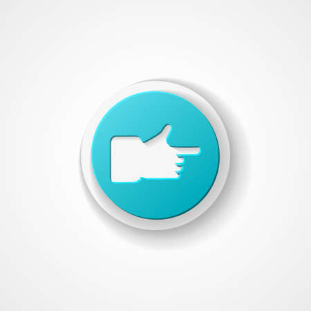 Hand cursor web icon on white background Vector