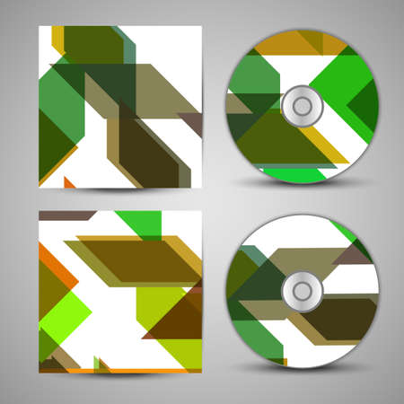 Vector cd cover  set for your design, abstract Illustration. Vector