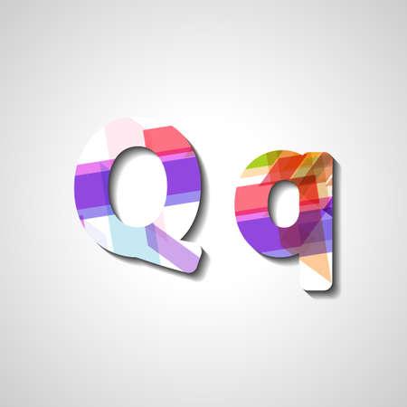 lettre alphabet: Colorful alphabet de lettre, illustration abstraite