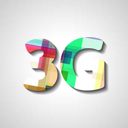 3g: 3G abstract symbol, style illustration Illustration