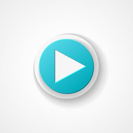Play web icon Stock Illustratie