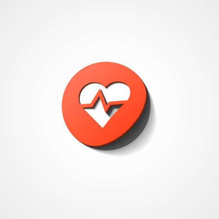 pulse trace: Heart Rate web icon