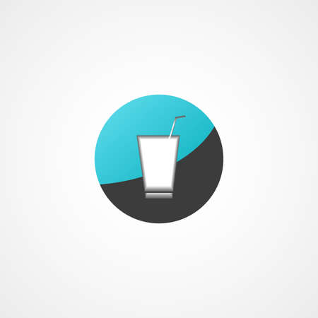 Soft drink web icon on Vector