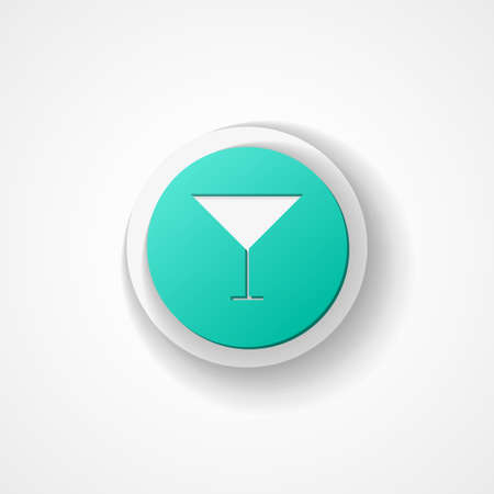 Cocktail web icon Vector