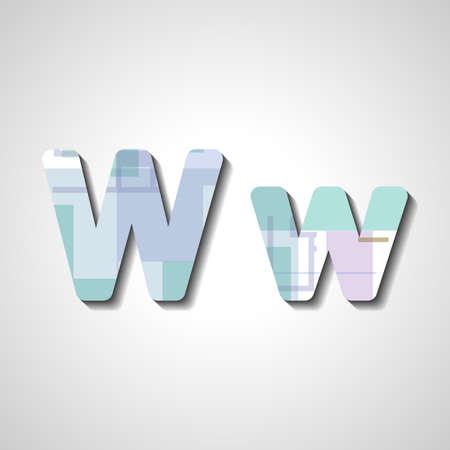lettre alphabet: Colorful alphabet lettre