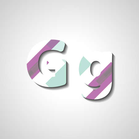 lettre alphabet: Colorful letter alphabet