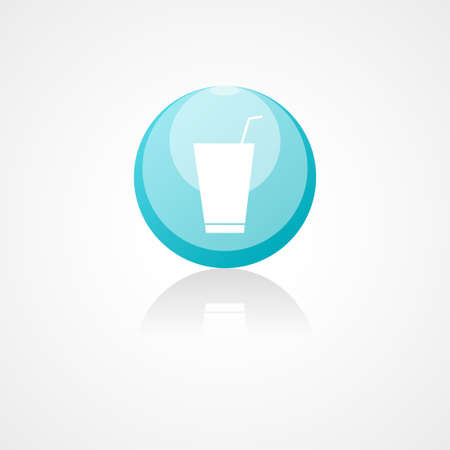 closed ribbon: Soft drink web icon on