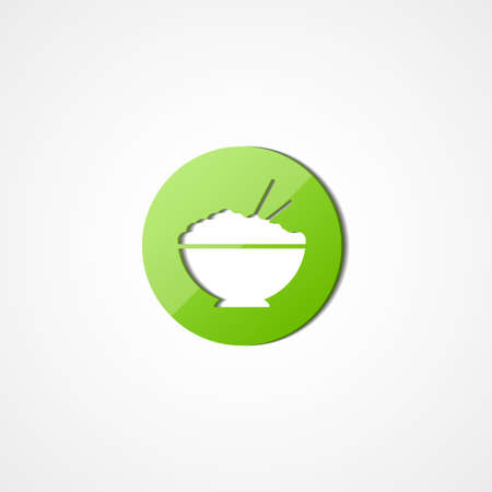 rice plate: Rice in plate web icon Illustration