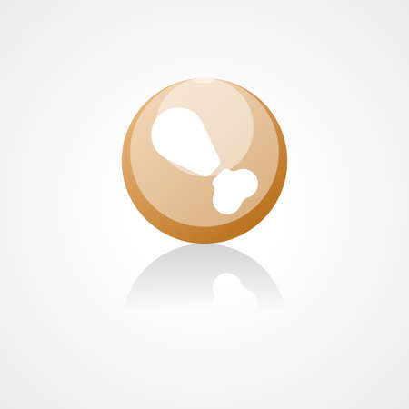 nibbled: Leg of grilled chicken web icon
