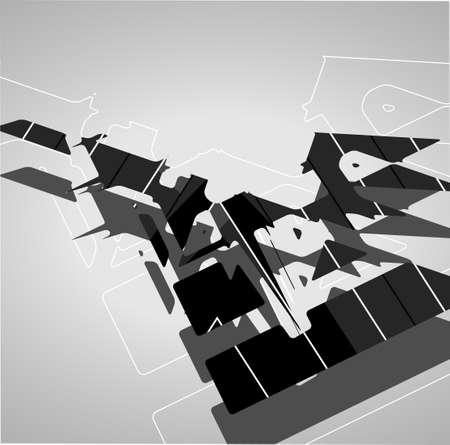 illustrates: Futuristic background, geometric illustration