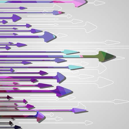 Arrow design background Vector