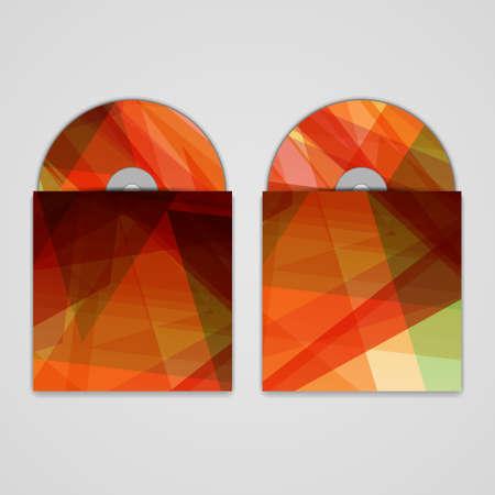 cd r: Vector cd cover  set for design Illustration