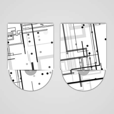 substrate: Vector cd cover set para su dise�o Vectores