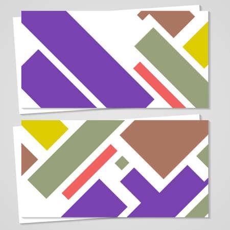 businesscard: Vector business-card  set for your design Illustration