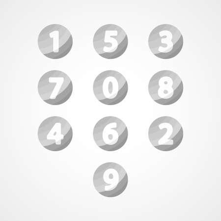 numbers icon: Numbers set web icon Illustration