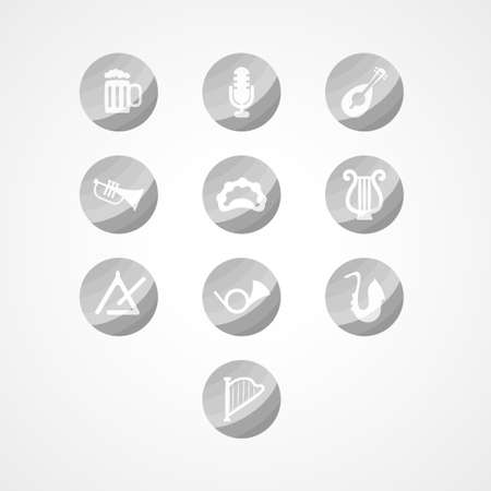 set musical instrument web icon Vector