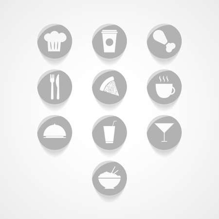 nibbled: Food  web icon Illustration