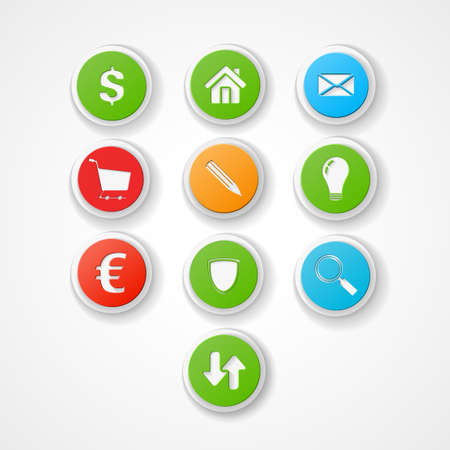 set business web icon Vector