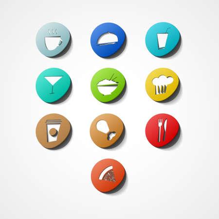 nibbled: Food  web icon Illustration