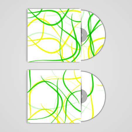 masculinity: Vector cd cover  set for your design Illustration