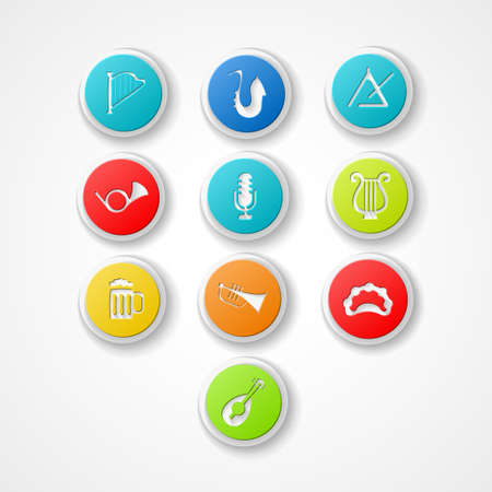 lyra: set musical instrument web icon
