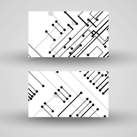 circuitry: Vector business-card  set for your design Illustration