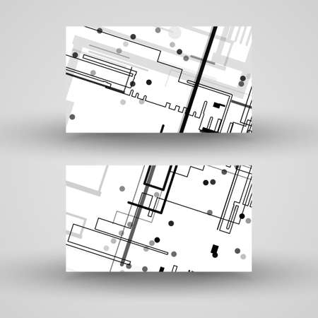 businesscard: Vector business-card  set for your design, circuit board Illustration.