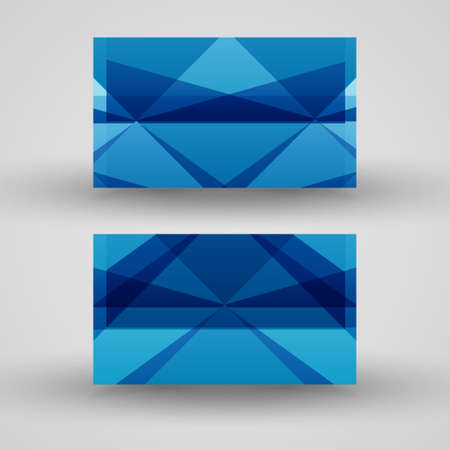 jammed: Vector business-card  set for your design, abstract Illustration.