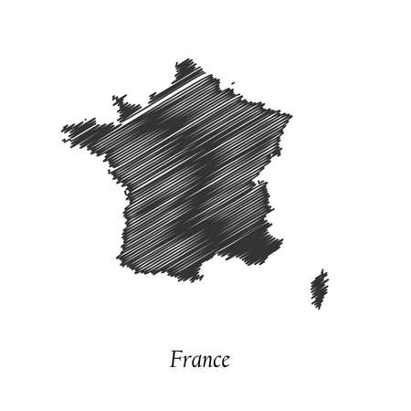 corsica: France map icon for your design, concept Illustration. Illustration