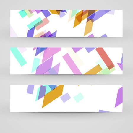 ten empty: Vector banner set for your design