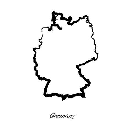 germanic: Map of Germany for your design