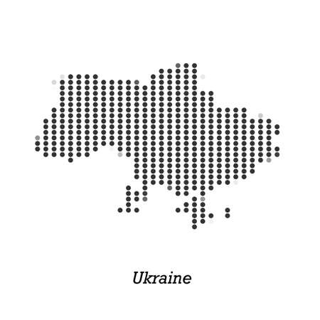 roaming: Dotted map of Ukraine  for your design