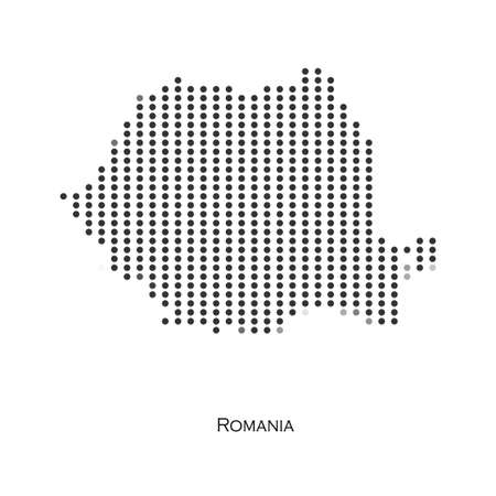 Dotted map of Romania  for your design