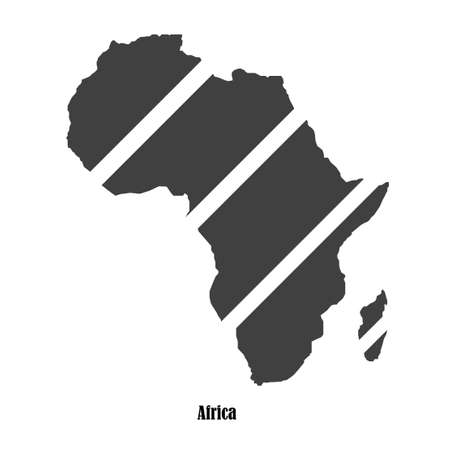 Black map of Africa for your design Vector