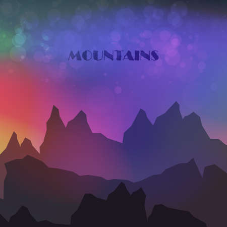 alpinism: Astratte colorate Mountains