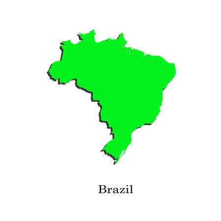 footbal: Map of Brazil for your design