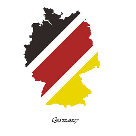 frankfurt germany: Map of Germany  for your design