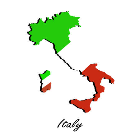 Map of Italy  for your design Vector