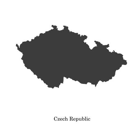 Black map of Czech Republic for your design Vector