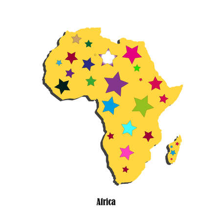 Map of Africa  for your design Vector